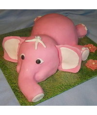 photo  carved elephant cake tutorial