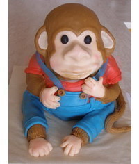 photo Carved 3D monkey cake how to