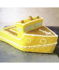 photo  3D Ship(boat) cake tutorial
