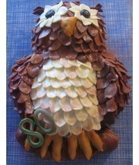 photo   Carved 2D owl cake tutorial