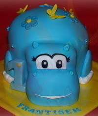 photo Hippopotamus cake tutorial