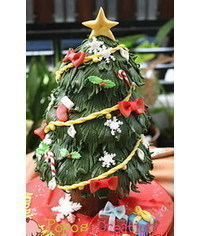 photo  3D Christmas tree cake tutorial