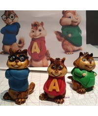 photo  Gumpaste (fondant, polymer clay) Alvin and the Chipmunks characters making tutorial