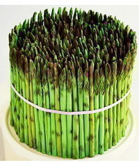 photo Gumpaste (fondant, polymer clay) Asparagus making tutorial