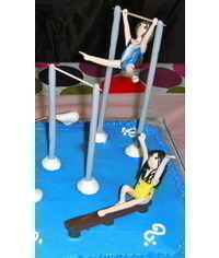 photo  -Gumpaste (fondant, polymer clay) gymnast figure making tutorial