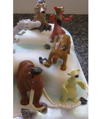 photo  Gumpaste (fondant, polymer clay) Ice age characters making tutorials