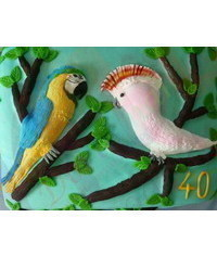 photo Carved birds cake making tutorial