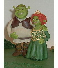 photo Gumpaste (fondant, polymer clay) Shrek characters making tutorials