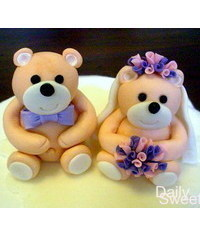 photo How to make teddy bears wedding cake topper