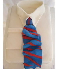 photo Shirt & Tie Cake How-To