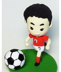 photo football player figure making tutorial