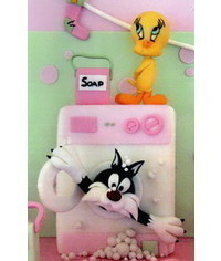 photo  Gumpaste (fondant) Looney Tunes characters making tutorials