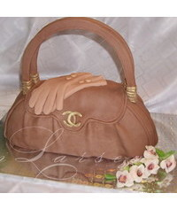 photo Carved handbag cake how to