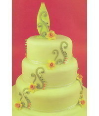 photo  How to make Spring Wedding cake with daffodils