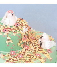 photo  фигурка на торт-Loving birds wedding cake topper step by step