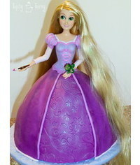 photo Princess Rapunzel doll cake tutorial