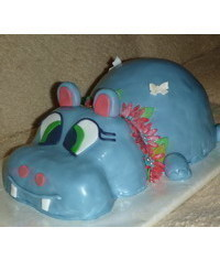 photo  Carved Hippopotamus cake tutorial
