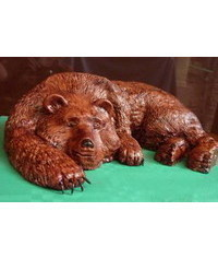 photo  Carved lying Bear cake tutorial