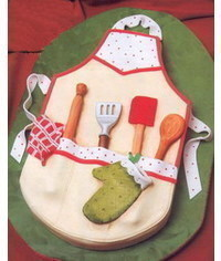 photo Carved Apron cake tutorial