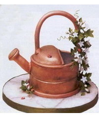 photo   Carved Watering Can cake tutorial