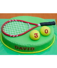 photo Gumpaste (fondant, polymer clay) tennis racket making tutorial