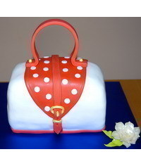 photo Carved 3D handbag cake tutorial