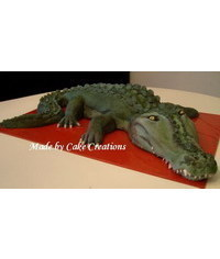 photo  crocodile cake tutorial