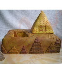 photo Pyramid cake tutorial,