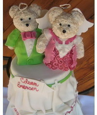 photo  Wedding cake with bears