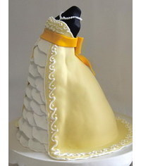 photo  торт беременной -Pregnant Dress Cake tutorial