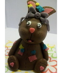 photo  Carved 3D Rabbit cake tutorial