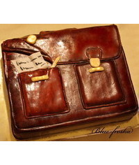 photo  Carved Briefcase cake how to