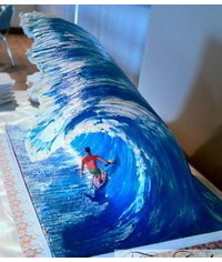 photo 3D Big Wave cake tutorial