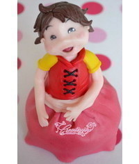 photo How to sculpt gumpaste (fondant, polymer clay) girl