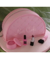 photo  3D cosmetics bag cake tutorial