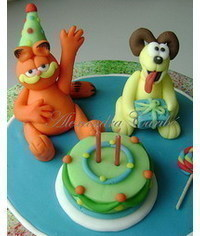 photo Gumpaste (fondant, polymer clay) Garfield and Friends characters making tutorials