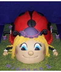photo  Carved 3D Ladybug cake how to