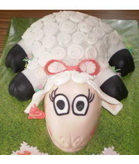 photo Carved Lamb, sheep cake tutorial