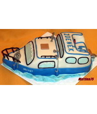 photo 3D Boat cake step by step