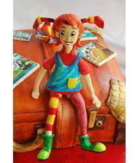 photo  Pippi Longstocking character figurine making tutorial