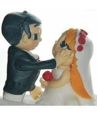 photo how to make fondant groom and bride figurines