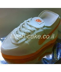 photo Carved Nike Running Shoe Cake tutorial