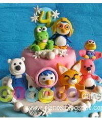 photo Gumpaste (fondant, polymer clay) Pororo the Little Penguin characters making tutorials