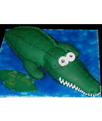 photo 3d Crocodile cake tut