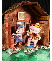 photo  Gumpaste (fondant) Three Little Pigs characters tutorials