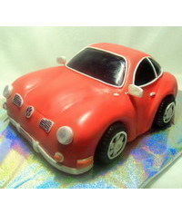photo  Volkswagen Beetle car cake how to