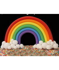 photo  How to make a Gumpaste Rainbow