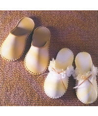 photo  Slippers making step by step (with template)