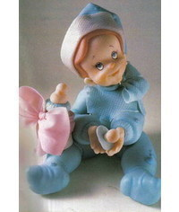 photo  How to sculpt gumpaste (fondant, polymer clay) Baby Boy
