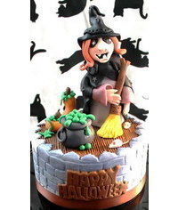photo Halloween cake toppers step by step